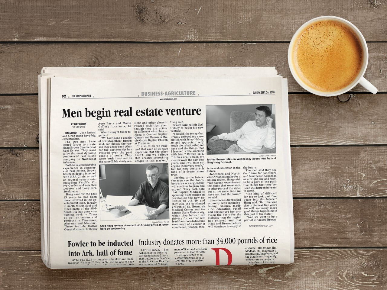 Men begin real estate venture