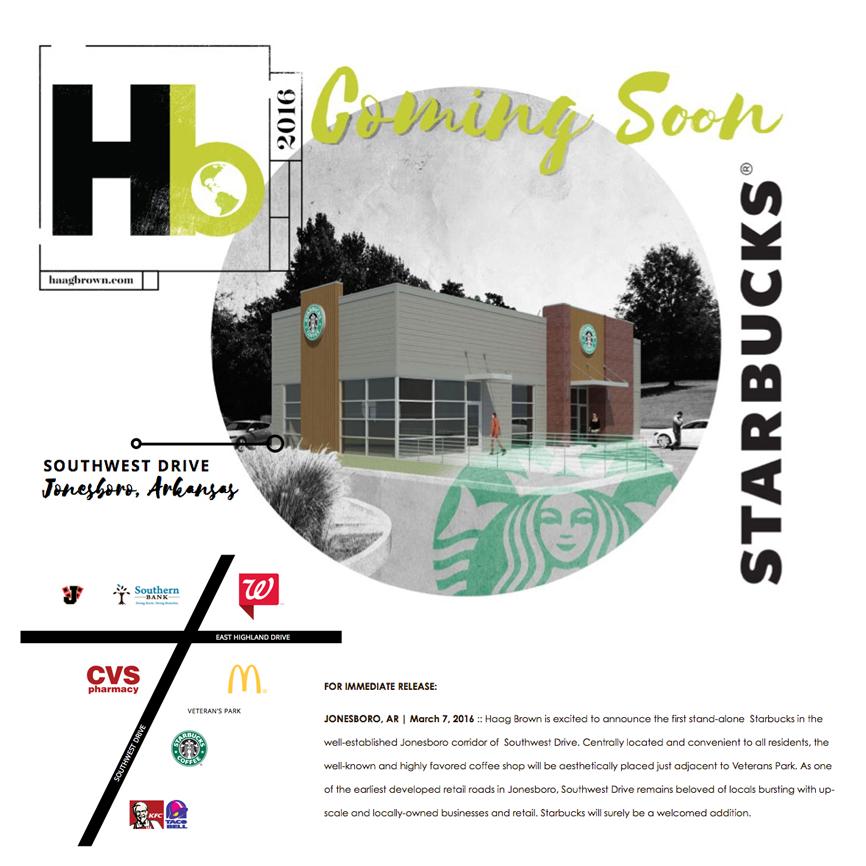 Press Release :: Starbucks Coming to SW DR in Jonesboro, AR